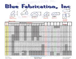 Pipe Fitting Dimensions Chart Blue Fabrication Pipe Specs