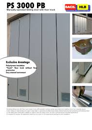 sliding doors with floor track ps 3000 pb 1 2 pages