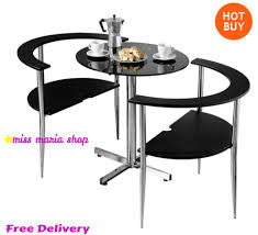breakfast sets furniture. small dining table set chairs furniture black modern bistro glass breakfast sets