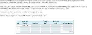 Home Amortization Solved Amortization Is A Process In Which Regular Payment