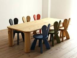 dining table childrens chairs personalised set