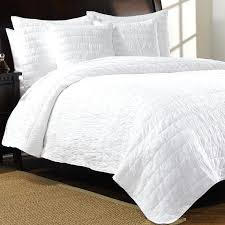 Dominique White Quilt And Shams Large White Super King Size Quilt ... & ... White Cotton Coverlet King Ivy Hill Home Revel Cotton Quilt Set King  White Matelasse Bedspread King ... Adamdwight.com