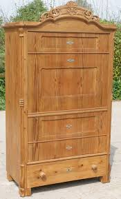 early 20th century antique german solid pine armoire wardrobe