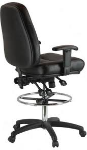 office drafting chair. Leather Drafting Chair 100KL-4-600 Office I