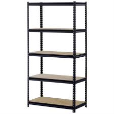 Shelves, Freestanding Shelving Unit Narrow Shelving Unit Black And Wood  Combination Decoration Case: 2017