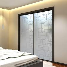 image of frosted glass doors sliding bedroom