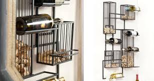 wall mount wine rack wall mounted wine racks metal wood creations modern vintage diy wall mounted