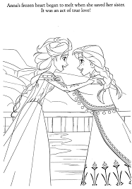 Elsa And Anna Coloring Page Frozen
