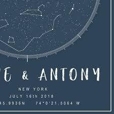 July 2018 Star Chart Constellation Map Celestial Map Custom Night Sky Print