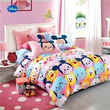 mickey mouse tigers printed comforter bedding set girls bedroom cotton bed cover single twin minnie sheets mouse toddler bedding from minnie bed sheets