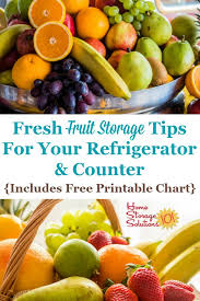 Printable Fruit And Vegetable Storage Chart Fresh Fruit Storage Tips For Your Refrigerator Counter
