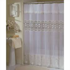 nimbus modern shower curtains stripe curtain with attached valance