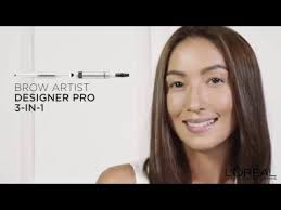 video of l oreal paris brow artist designer pro makeup tutorial how to get bold brows in 3 easy steps