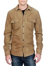 lucky brand sierra suede shirt jacket brown men young men s clothing jackets coats able