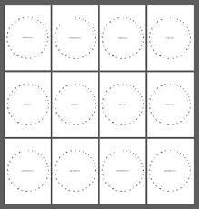 Circle Calendar Template Minimalist Elegant And Useful Circular Calendar Format For