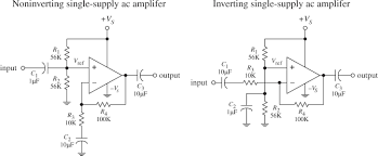Single Supply Op Amp Design Operational Amplifiers Practical Electronics For Inventors