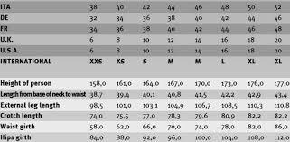 55 Detailed Dainese Jackets Sizing Chart