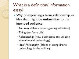 informative definition essays ppt  what is a definition information essay