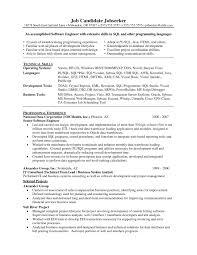 Sample Resume Objectives For Software Developer Best Resume Template