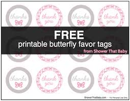 butterfly baby shower favors tags