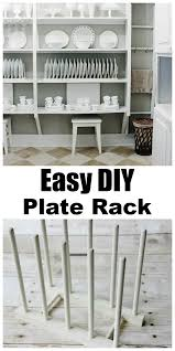diy plans how to build a plate rack pdf how to