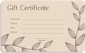 Pedicure Gift Certificate Template 2yv Net