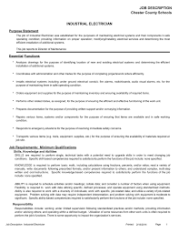 Electrician Job Duties Industrial Electrician