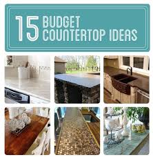 Here's a list of 15 different budget friendly ways to update your  countertops! If you have not seen this list before you have to check it out  ASAP.