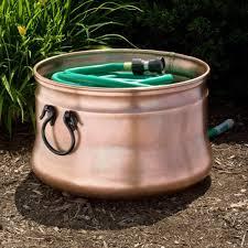 garden hose storage pot. garden hose pot with lid design home inspirations cedar planter kettle copper handles storage