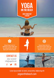 fly in flyers flyer templates a5 beach yoga a promotional http premadevideos com