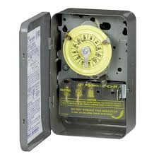 intermatic t series amp volt dpst hour mechanical t100 series 40 amp 125 volt dpst 24 hour mechanical time switch indoor enclosure