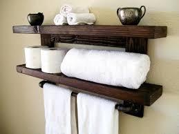floating shelves towel rack floating