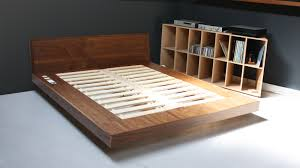 Wood Diy Platform Bed with Storage