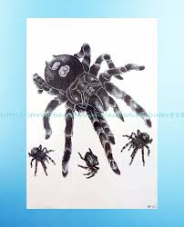Details About Big Spider 3d 825extra Large Temporary Arm Tattoo Waterproof Party Favor