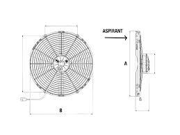 fan suction 12v 260a29 air conditioning ecoclim fan suction 12v spal epaisseur max e 86 1209014 30102120