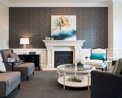Small Picture Wallpaper On A Fireplace Wall Houzz