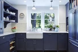 Painting Kitchen Cabinets Dark Bottom Light Top Beautiful Blue Kitchen Cabinet Ideas