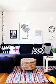 colorful living room. Colorful Living Room With A Navy Couch Colorful Living Room