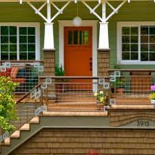 Orange front door Colors Charming Brightly Colored Home With Updated Front Porch Photos Hgtv Photos Hgtv