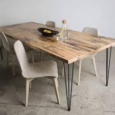 Moderner Esstisch Holz Metall Rechteckig Sun Wood