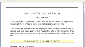 employment termination letter sample templates letters and the o cover letter employment termination letter sample templates letters and the ocompany termination letter