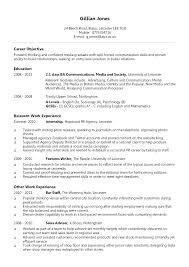 Advertising Internship Resume Interesting July 48 Successmakerco