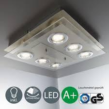 Led Deckeleuchte 6 Strahler Spot Lampe Schlafzimmer Wohnzimmer Wand