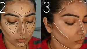 step2 how to contour and highlight your face