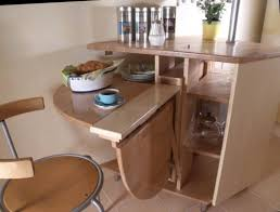 small folding tables on a kitchen