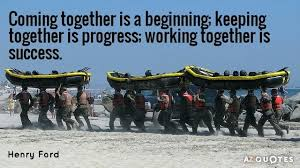 Teamwork Quotes Funny Classy Teamwork Quotes Inspirational Ford Quote Coming Together Is A