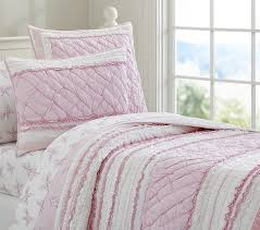 Twin Cotton Quilt | Pottery Barn Kids & Brigette Ruffle Quilt, Twin, Pink Adamdwight.com
