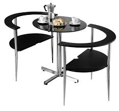 table 2 chairs. premier housewares love dining table and chair set, round shaped with black tempered glass top chrome legs, 75 x 80 94 cm, 3 pieces: amazon.co.uk: 2 chairs 0