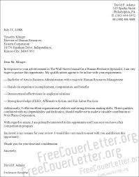 human resources specialist cover letter sample how to write a cover letter to human resources