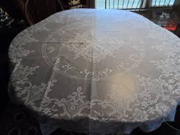 laura ashley lace tablecloth 70 inches round white new free